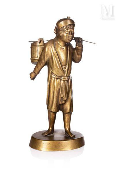VIETNAM, XXe siècle, Statuette en bronze