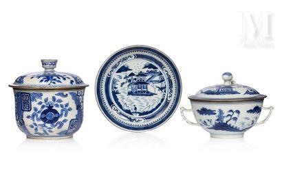 VIETNAM, XIXe siècle, Pot couvert en porcelaine