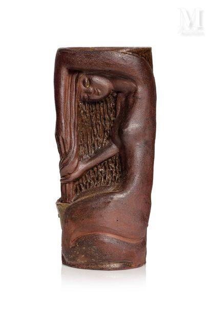 VIETNAM, XXe siècle, Vase en grés émaillé