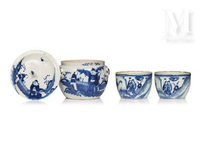 CHINE, XIXe/XXe siècle, Ensemble de trois porcelaines