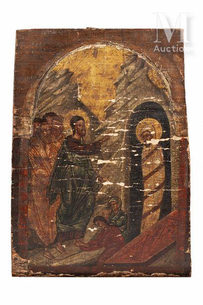 Icône de la résurrection de Lazare.