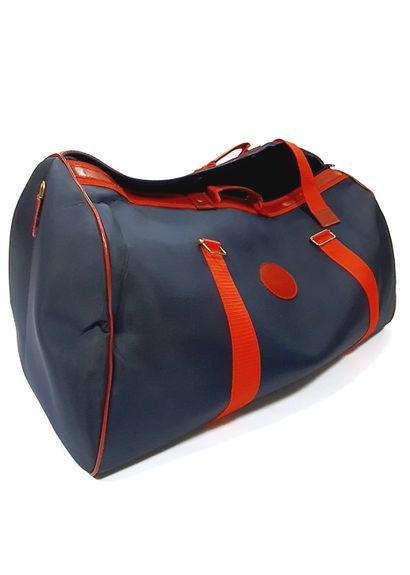 AIR INTER  Grand sac en toile bleue et rouge...