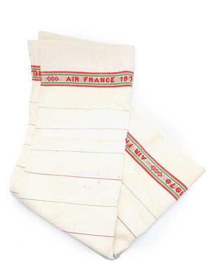 AIR France, 1979  Torchon en coton à décor...