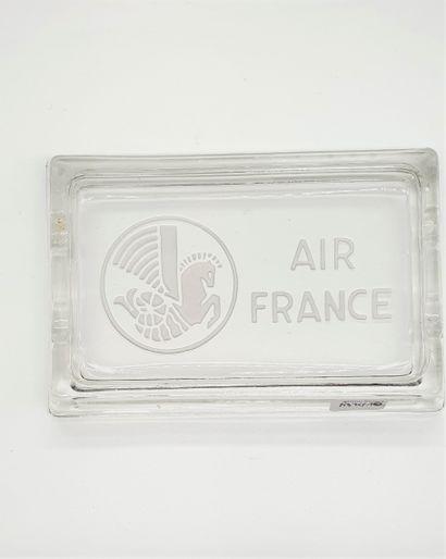 AIR FRANCE  Cendrier en verre gravé du logo...