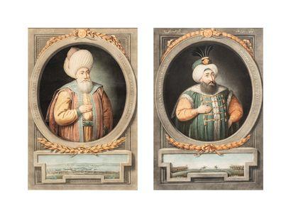 Paire de portraits ottoman