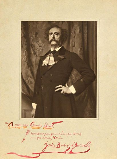 Barbey d'AUREVILLY (1808-1889). Photographie...