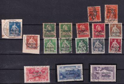 SUISSE. Service - Bel ensemble de timbres...
