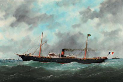 Edouard Marie ADAM, dit Adam du Havre (peintre du ministère de la Marine) (1847 -...