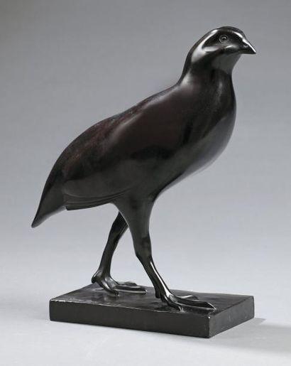 François POMPON (Saulieu 1855-Paris 1933) Perdreau rouge, circa 1940 Sculpture en...