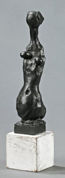 Robert COUTURIER (Angoulême 1905-Paris 2008) Nu féminin Sculpture en bronze à patine...