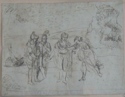 Attribué à Agostino TASSI (Pérouse 1565 - Rome 1644)