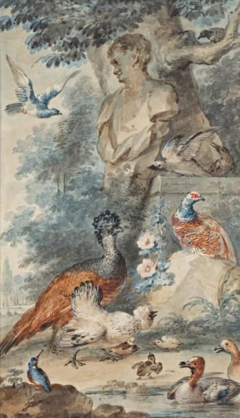 Attribué à Aert Schoumann (Dordrecht 1710 - la Haye 1792)