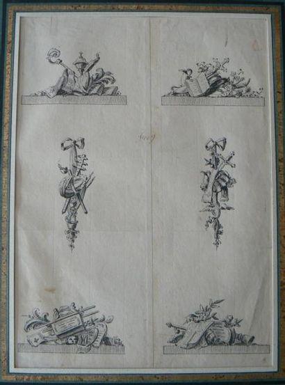 Entourage de Gilles Marie Oppenord (Paris 1672 - 1742)