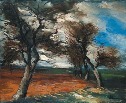 Maurice de VLAMINCK (1876-1958) French Paysage Signed 'Vlaminck' (lower right corner)...