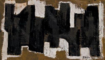 Behjat SADR (1924-2009) Iranian Untitled, 1960 Signed 'Sadr' (lower right) Mixed...