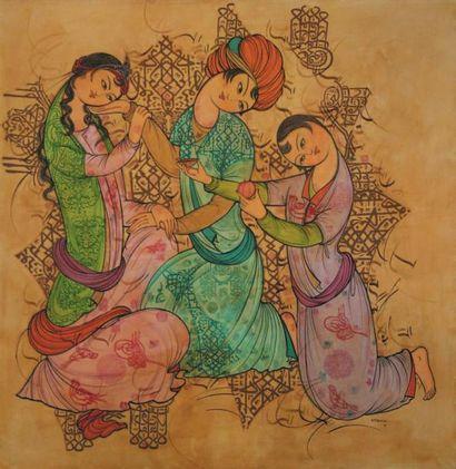 Sadegh TA BRIZI (1939-) Iranian Untitled, 1391 (2012) Signed and dated in Farsi 'S....