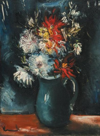 Maurice de VLAMINCK (1876-1958) French Vase de fleurs Signed 'Vlaminck' (lower left...