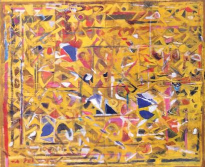 Achuthan KUDALLUR (1945-) Indian Untitled, 1992 Signed and dated '92' (upper right...