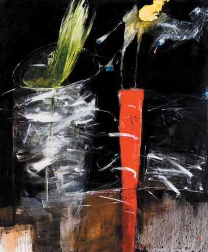 Farideh LASHAI (1944-) Iranian Untitled, 2006 Signed (lower left corner) Oil on canvas...