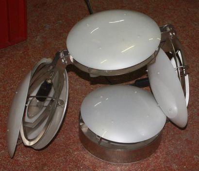 Lampe Travail de designer contemporain Lampe à poser à quatre pastilles circulaires...