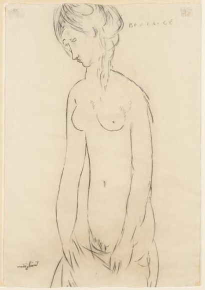 Amédéo MODIGLIANI (Livourne 1884 - Paris 1920) Béatrice Hastings Crayon gras 55 x...