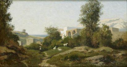 Henri Joseph HARPIGNIES (Valenciennes 1819-Saint Privé 1916)