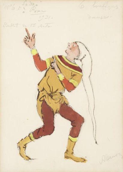 Alexandre BENOIS (Saint Petersbourg 1870 - Paris 1960) Esquisse de costume pour Sadko...