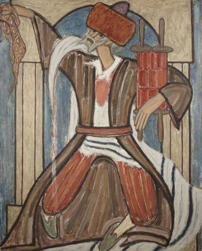 Jezecquel David Jakob KIRSZENBAUM (Straszow 1900- Paris 1954) Hassid Huile sur toile...