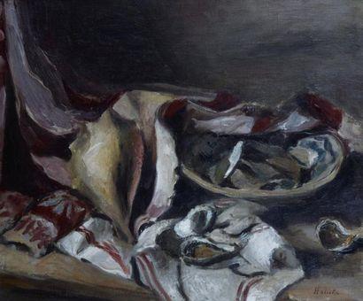 Alice HALICKA (Cracovie 1895 - Paris 1975) Nature morte aux coquillages Huile sur...