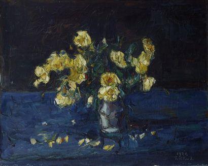 Wladimir de TERLIKOWSKI (Poraj 1873-Paris 1951) Bouquet de fleurs Huile sur toile...