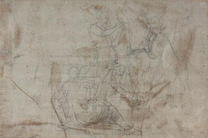 Ecole florentine de la fin du XVIème, entourage de POCCETTI Recto: Le Déluge Verso:...