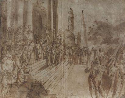 Attribué à Andrea VINCENTINO dit aussi Andrea dei MICHIELI (Venise 1542 - 1617)
