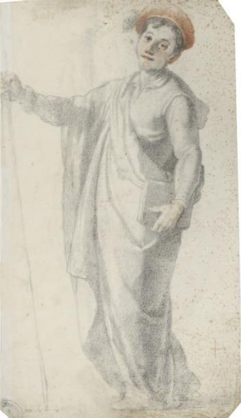 Attribué à Sigismondo COCCAPANI (Florence 1583 - 1642) Recto: jeune homme de profil...