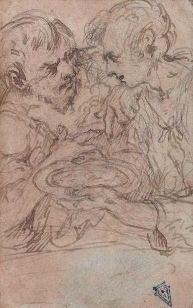 Attribué à Giulio Cesare PROCCACINI (Bologne 1574 - Milan 1625) Recto-verso: la Sainte...