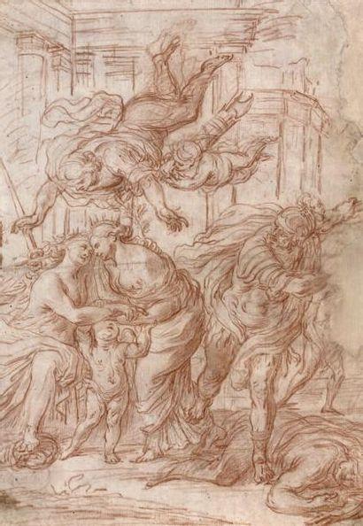 Giovanni Battista VANNI (Florence 1599 - Pistoia 1660) Allégorie de la paix Sanguine...