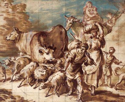 Attribué à Francesco CASTI GLION E (Gênes 1642 - 1710)