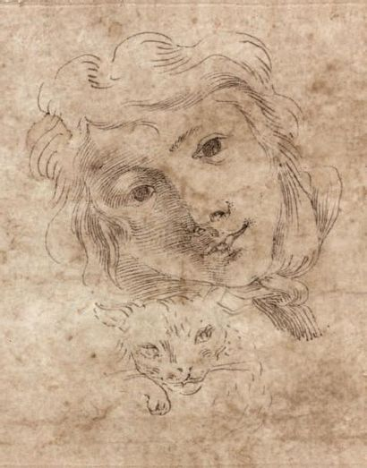 Carlo CIGNANI (Bologne 1628 - Forli 1719) Recto: la mort de Joseph Verso: tête d'enfant...