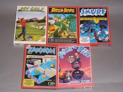 Lot de 5 jeux neufs sans blister pour Atari...