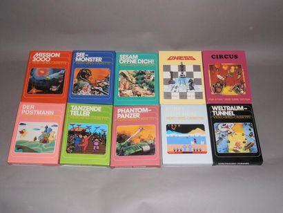 Lot de 10 jeux neufs sans blister pour Atari...