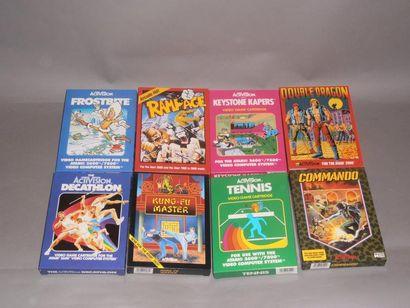 Lot de 8 jeux Activision pour Atari 2600...