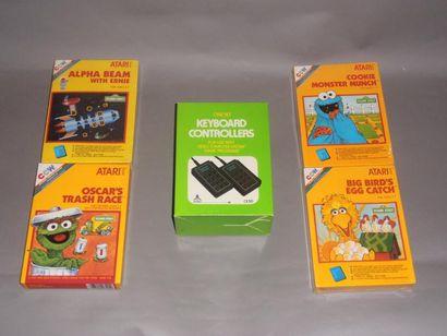 Lot de 4 Jeux pour Atari 2600 (PAL) utilisant...
