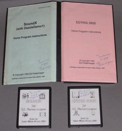Jeux EdTris et SoundX pour Atari 2600 (numérotés...