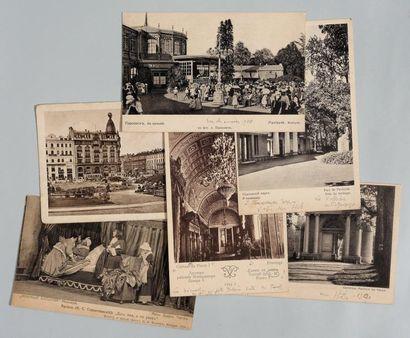Cartes postales Alex. Benois, Ensemble de...