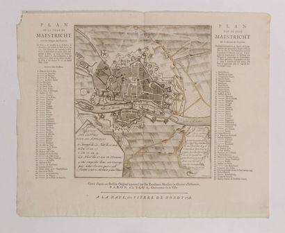 Plan de Maestricht, gravé en taille douce....