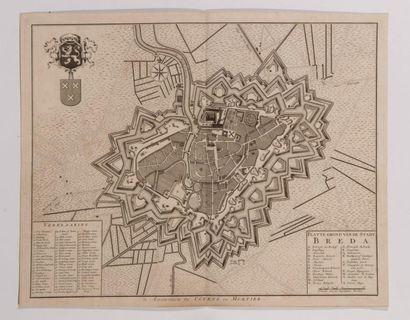 Plan de Breda, gravé en taille-douce. Amsterdam,...