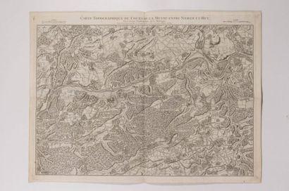 Carte du cours de la Meuse, gravée en taille-douce...