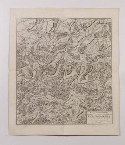 Carte topographique du cours de la Sambre...