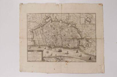 Plan de la ville et citadelle d'Anvers, gravé...