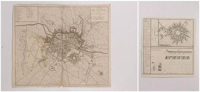 Plan de Tournay, ville épiscopale, gravé...