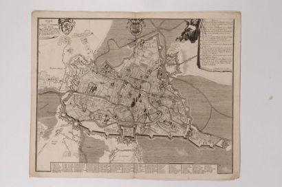 Plan de Gand, gravé en taille-douce. Bruxelles,...
